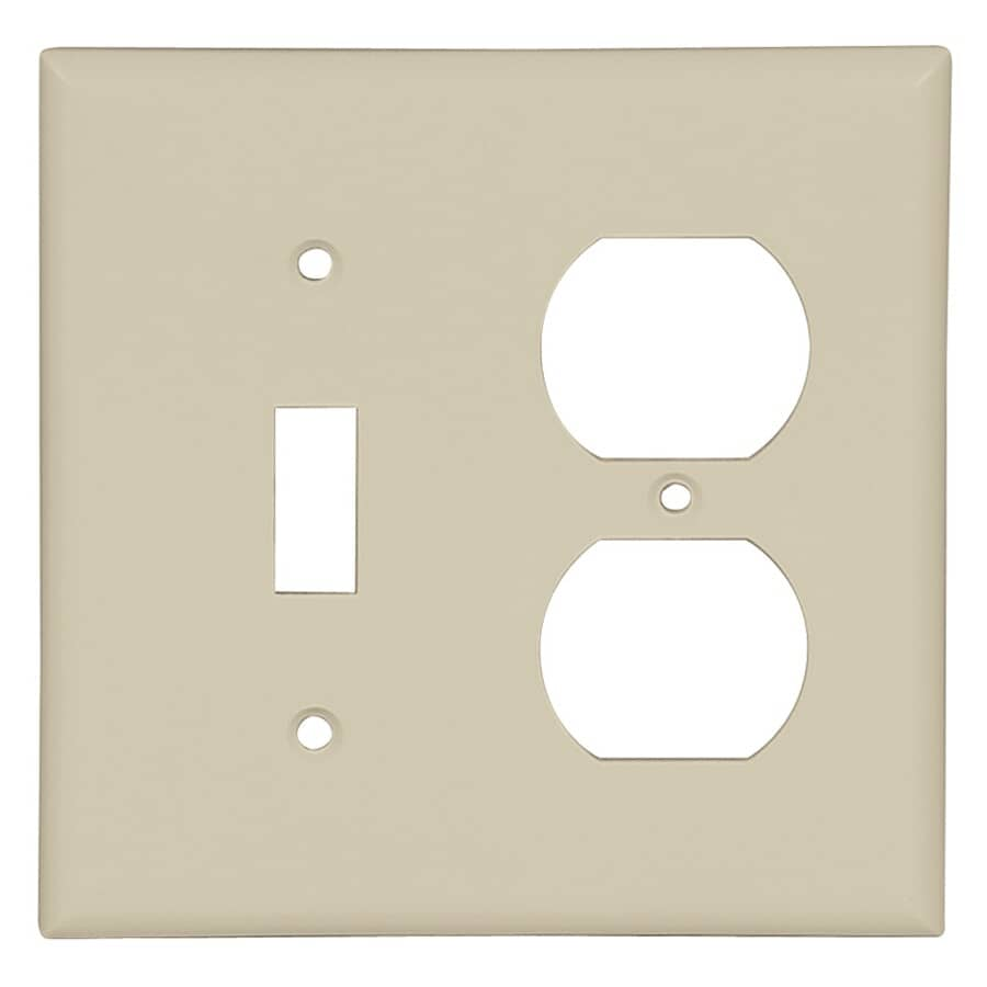 EATON:Ivory 1-Toggle/1-Duplex Switch/Receptacle Plate