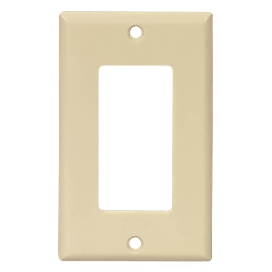 EATON:Ivory Plastic 1-Gang Decorator Wall Plate