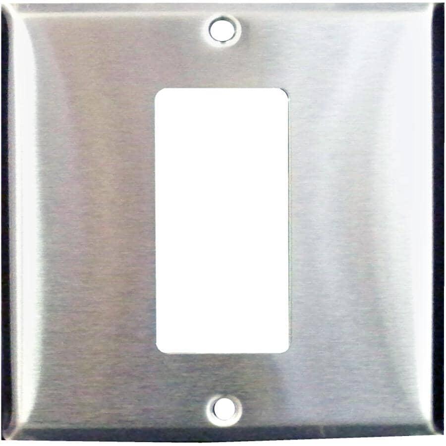 EATON:Chrome Decorator GFI Receptacle Plate Conversion Kit