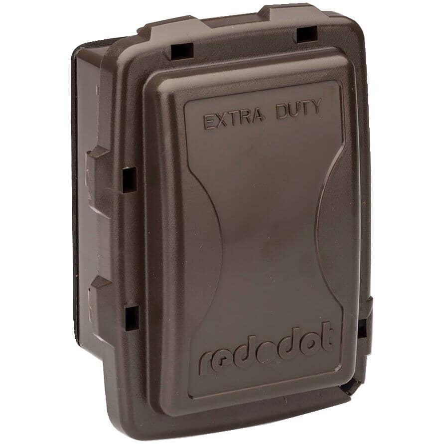 RED DOT:Couvercle très robuste bronze de profondeur moyenne en service, résistant aux intempéries, 1 dispositif, gris