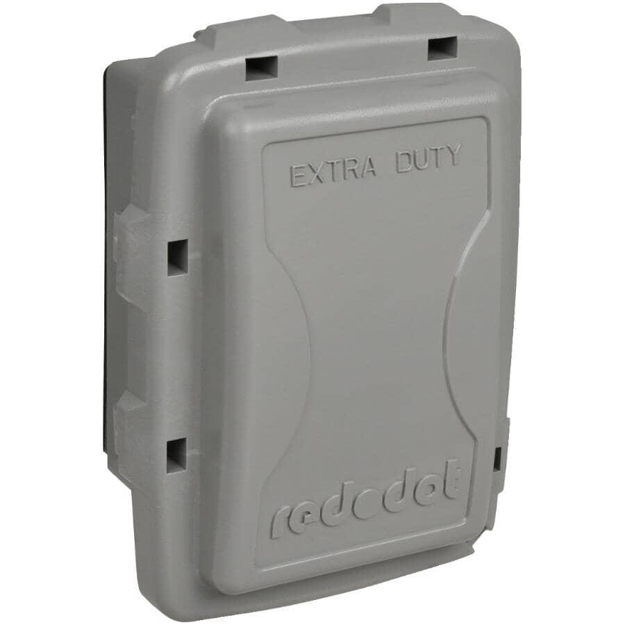 RED DOT:Couvercle étanche peu profond Extra Duty en service pour 1 boîte de sortie, gris