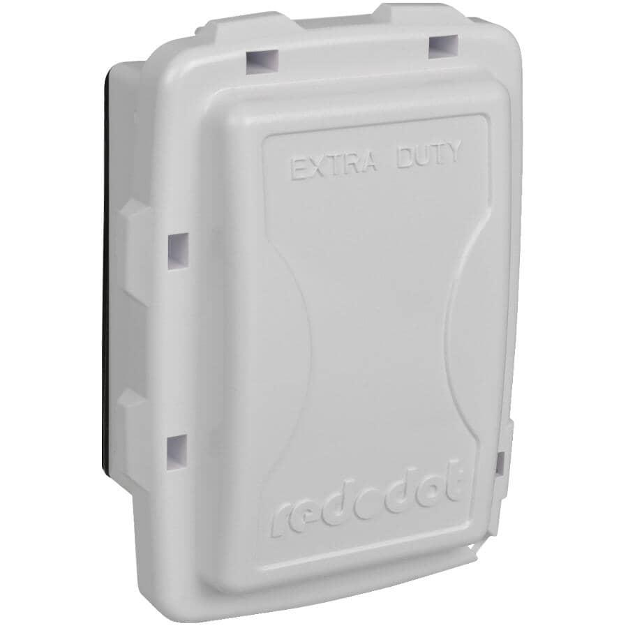 RED DOT:Couvercle étanche peu profond Extra Duty en service pour 1 boîte de sortie, blanc