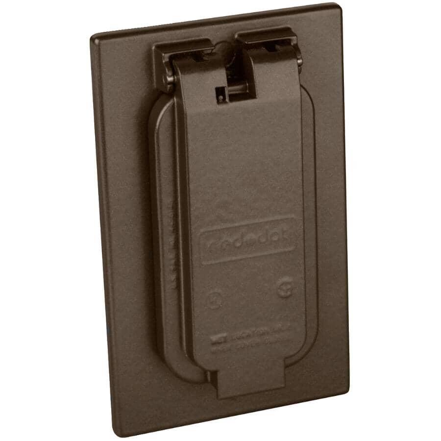 RED DOT:Couvercle étanche pour 1 boîte de prise, bronze