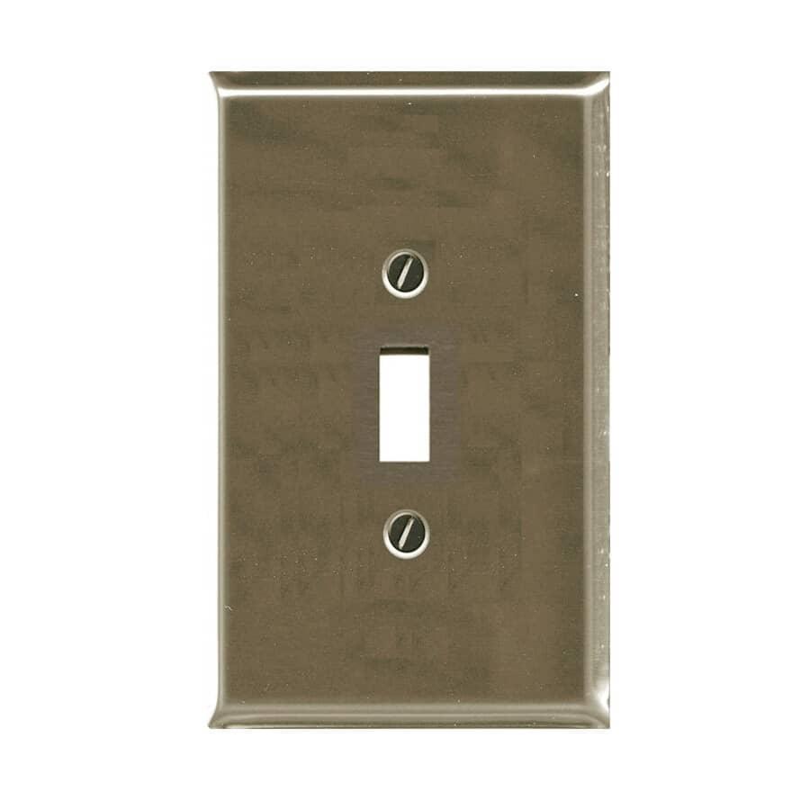 ATRON:Plaque pour un interrupteur à bascule, nickel brossé