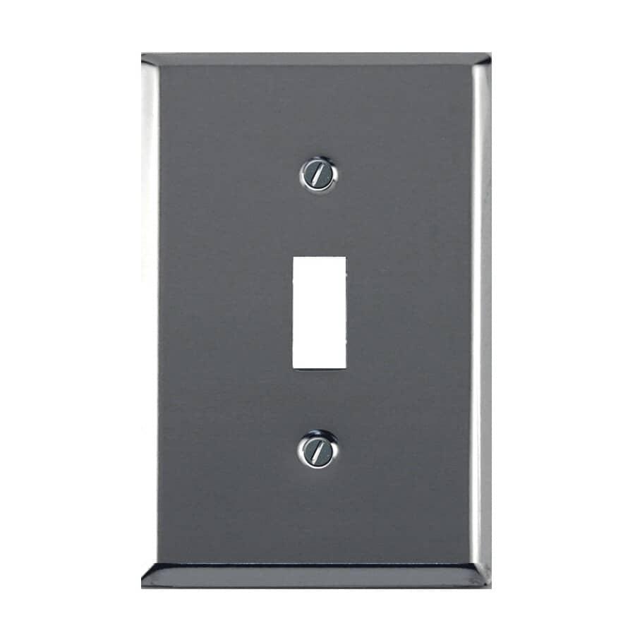ATRON:Plaque de luxe pour un interrupteur à bascule, chrome