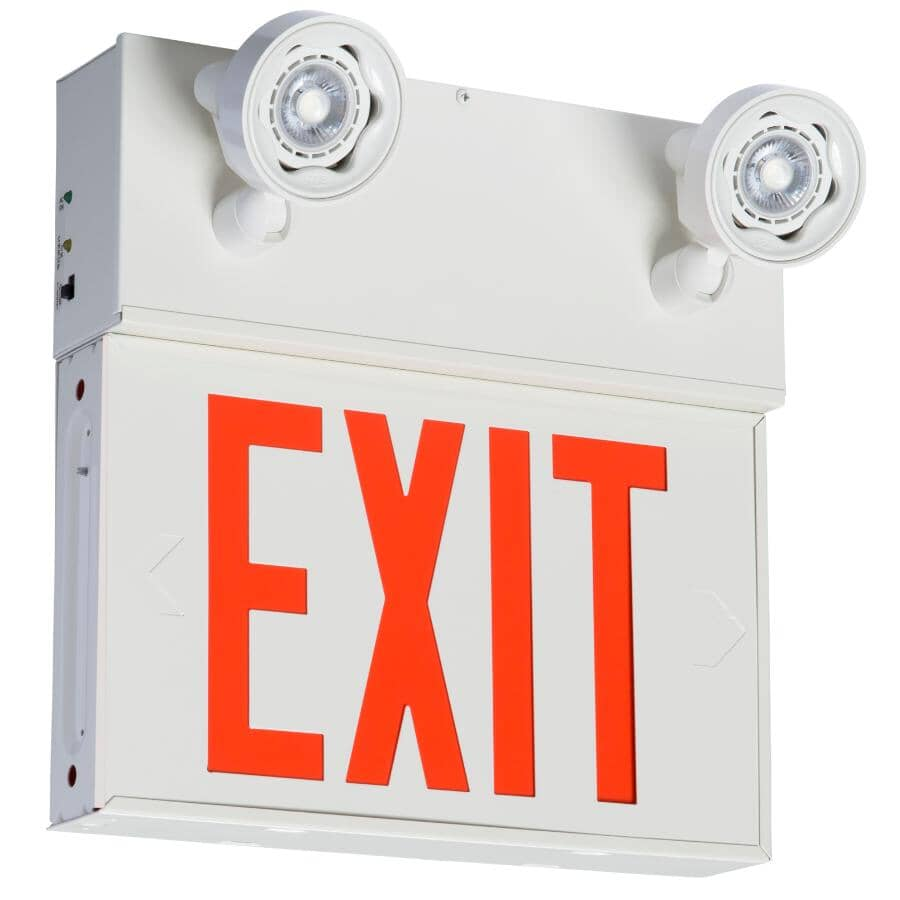 EMERGI-LITE:2 Light LED Security Light - with English Exit Sign