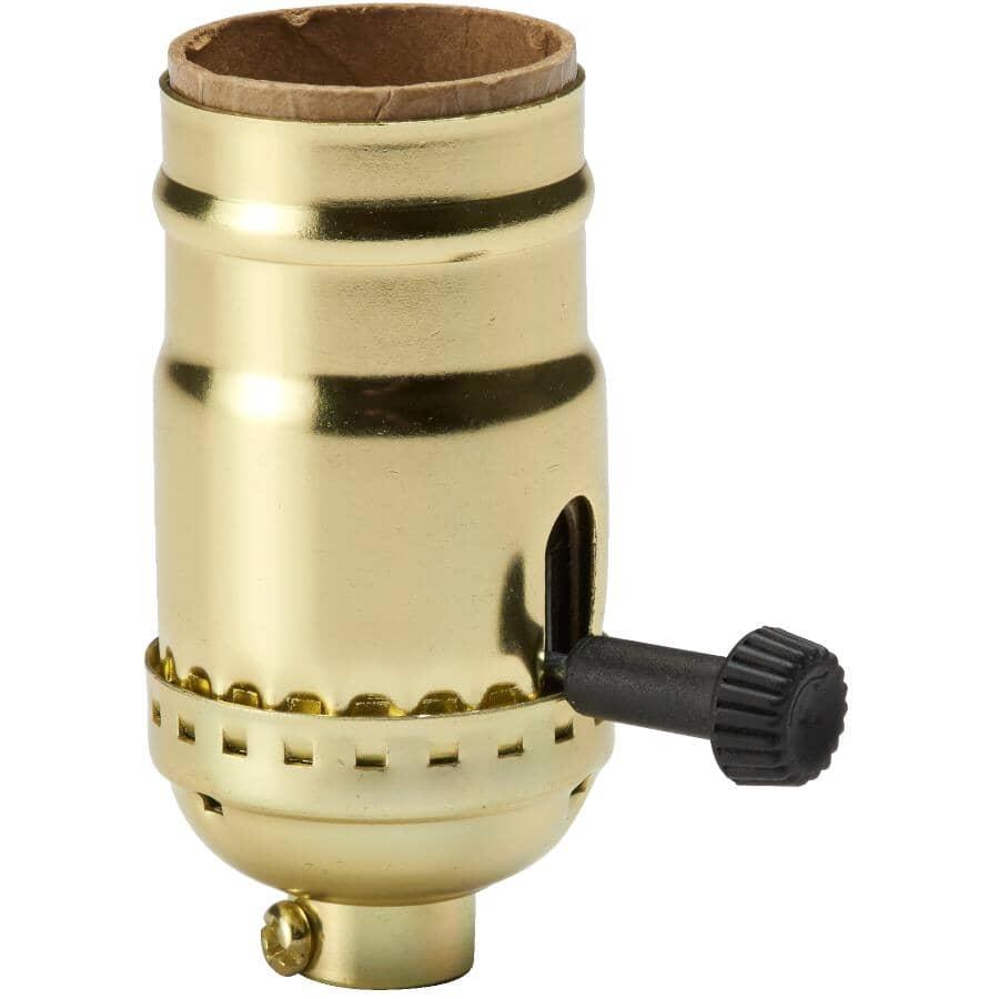 HOME ELECTRIC:Single Pole Turn Key Light Socket