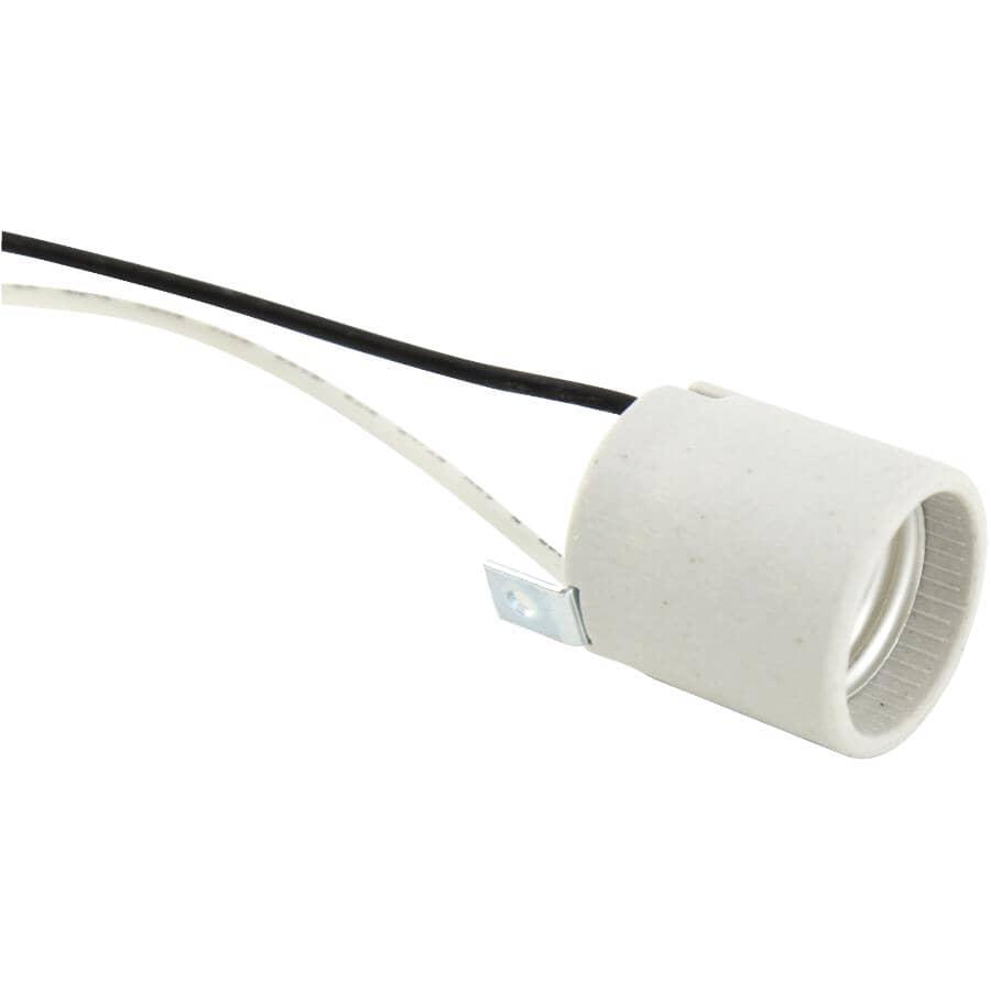 ETLIN DANIELS:Douille de lampe L-Brick en porcelaine