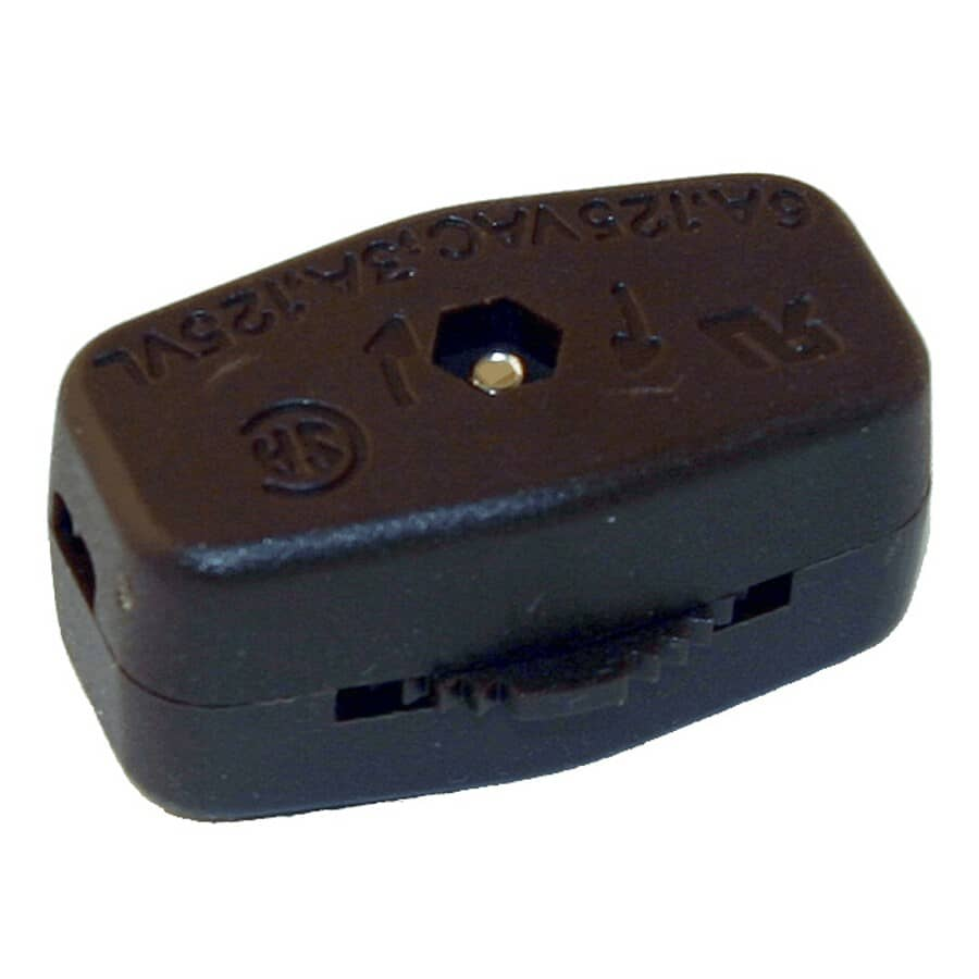 ATRON:Brown Feed Thru Cable Thumb Switch
