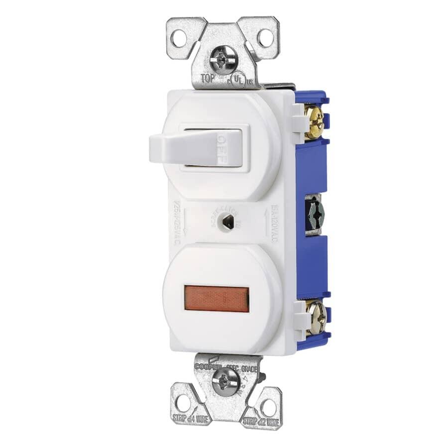 EATON:White Light Switch with Pilot Light