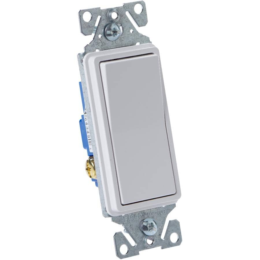 EATON:3 Way Decorator White Light Switch