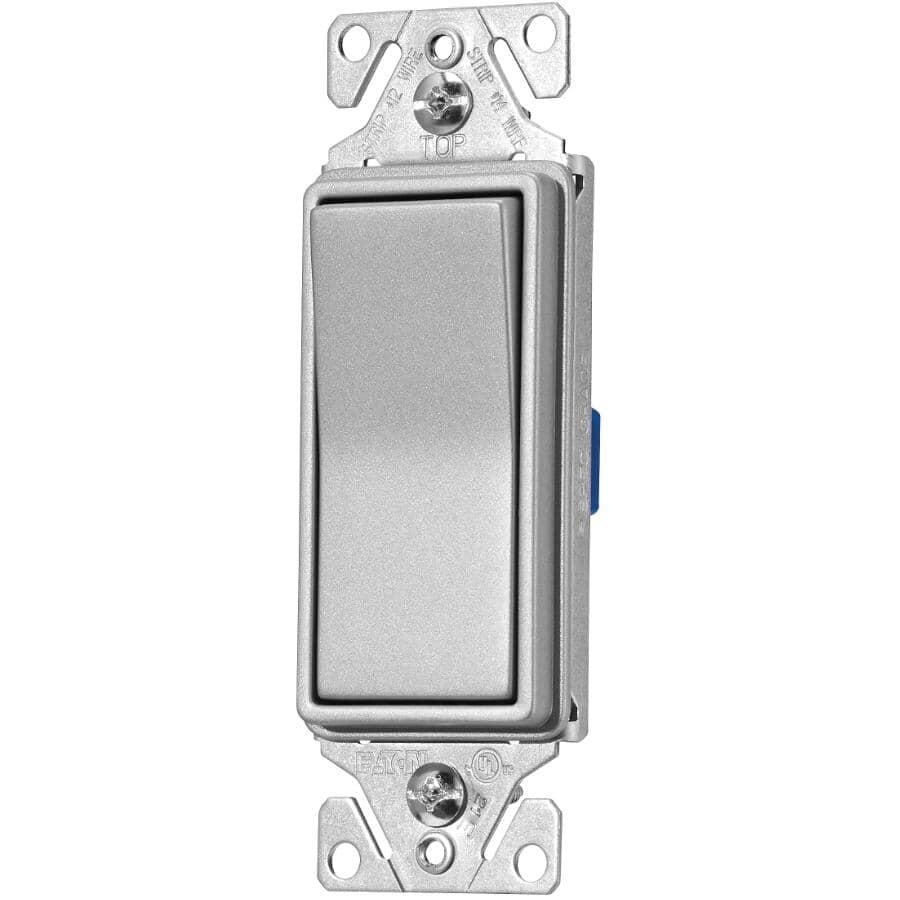 EATON:3 Way Decorator Silver Granite Light Switch