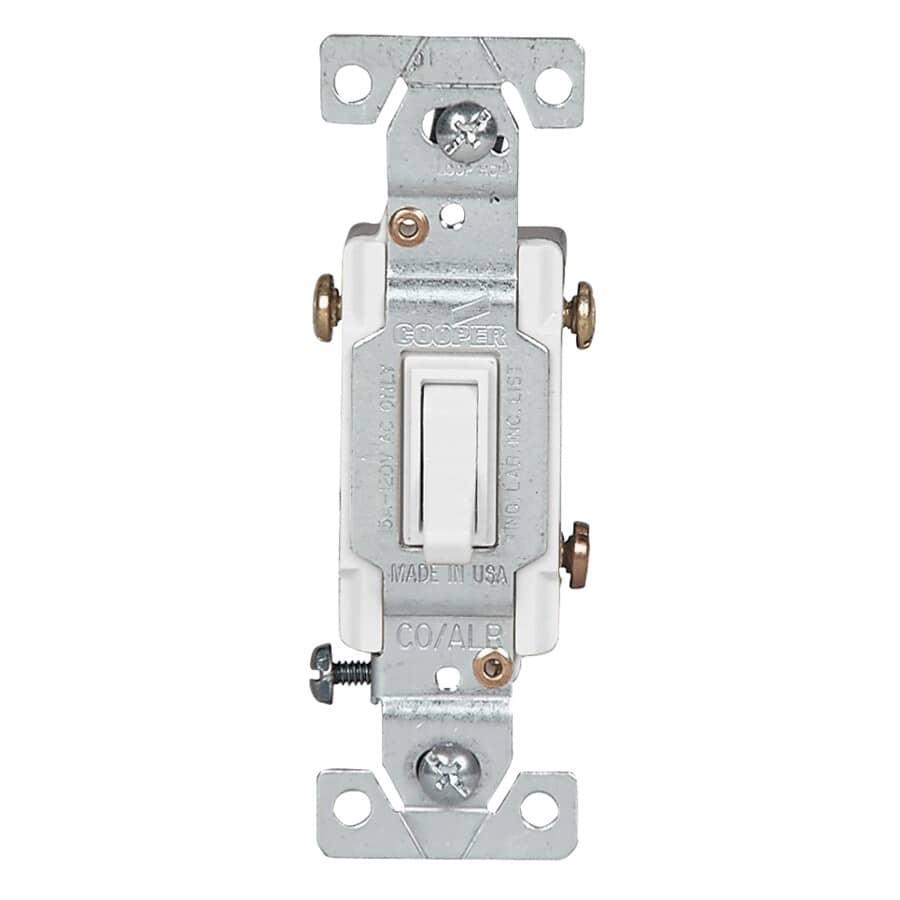 EATON:15 Amp 3 Way White CO/ALR Light Switch