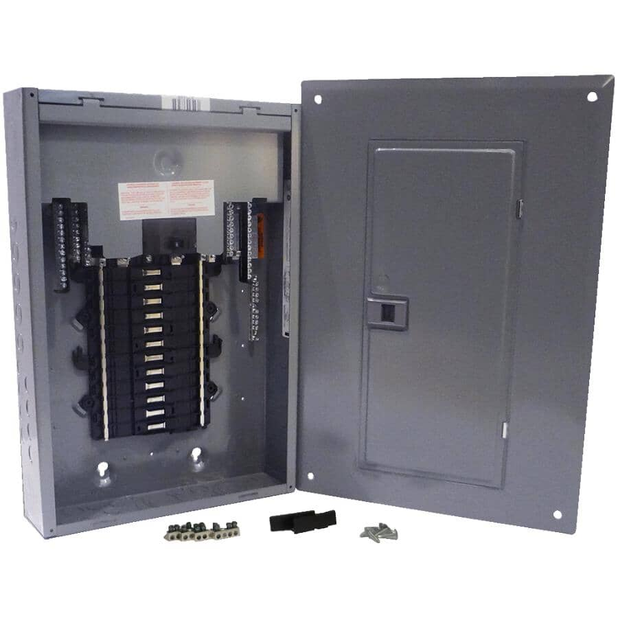 SQUARE D:100 Amp 24 Space Loadcentre with Panel and Breaker