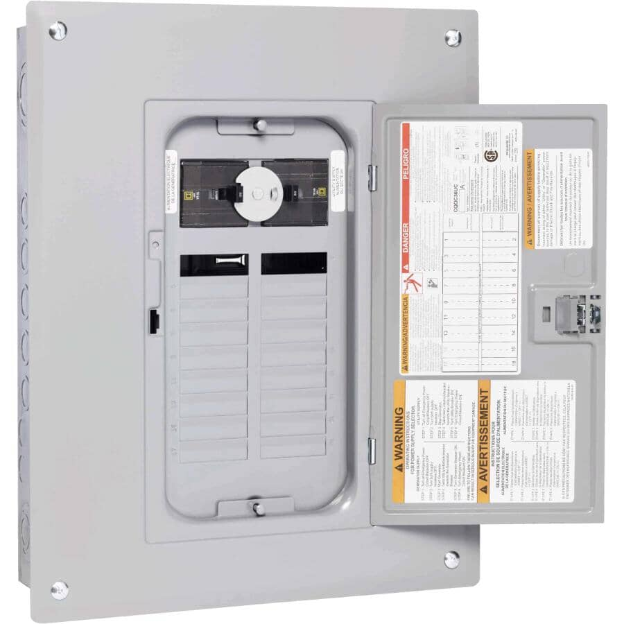 SQUARE D:36 Circuit 60 Amp Generator Panel Box