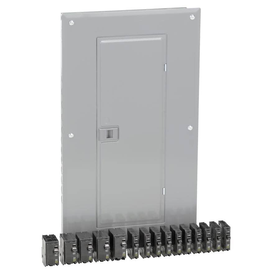 SQUARE D:100 Amp Loadcentre with Panel and Breaker
