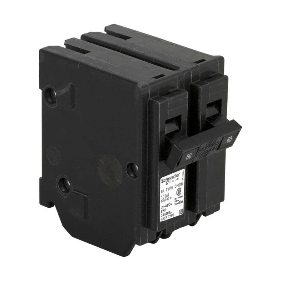 HOMELINE:2 Pole 60 Amp  Plug-On Circuit Breaker