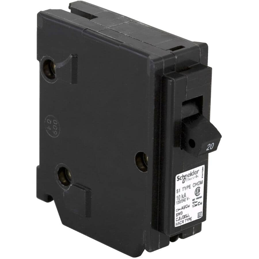 HOMELINE:20 Amp Single Pole Plug-On Circuit Breaker