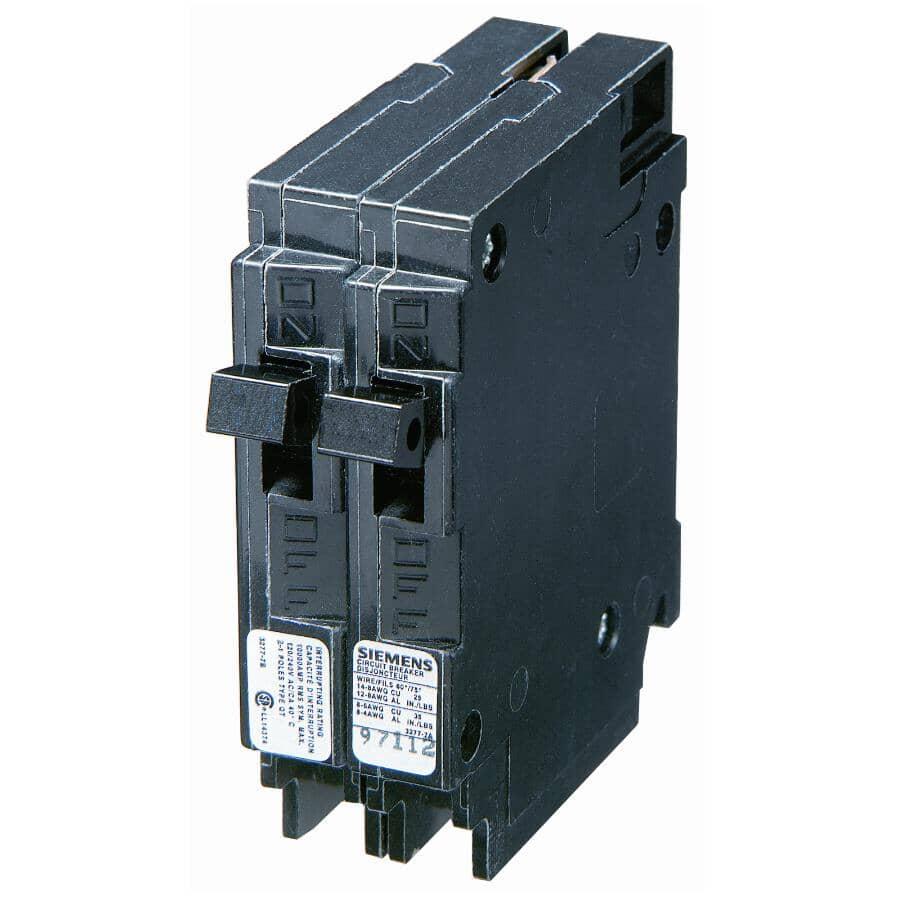 SIEMENS:15/15 Amp Dual Circuit Breaker