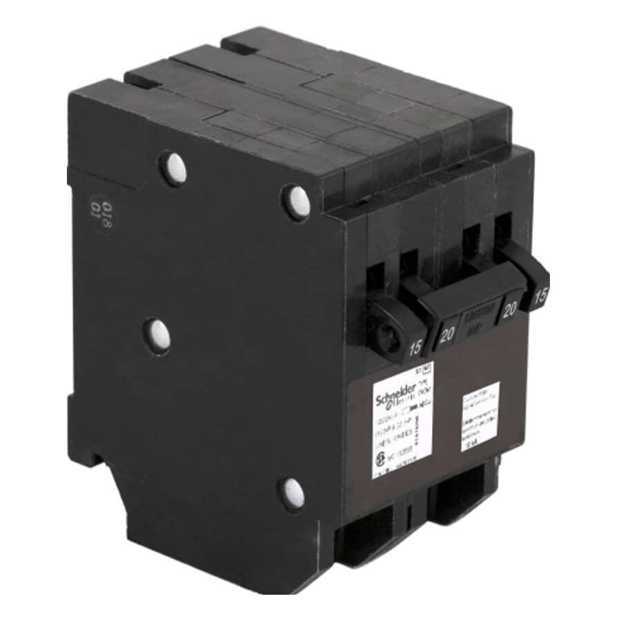 HOMELINE:20 Amp Single Pole/Double Pole Quad Plug-On Circuit Breaker