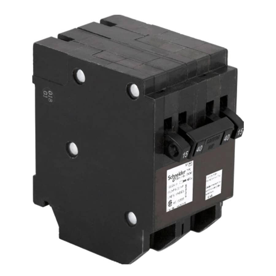 HOMELINE:40 Amp Single Pole/Double Pole Quad Plug-On Circuit Breaker