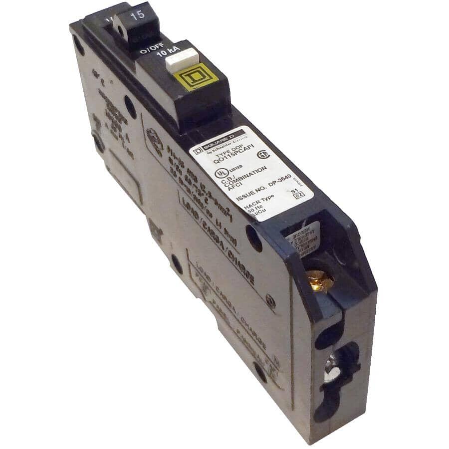 SQUARE D:Disjoncteur de défaut d'arc combiné unipolaire à enficher de 15 A