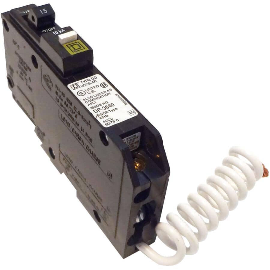 SQUARE D:Disjoncteur de défaut d'arc combiné unipolaire à queue de cochon de 15 A