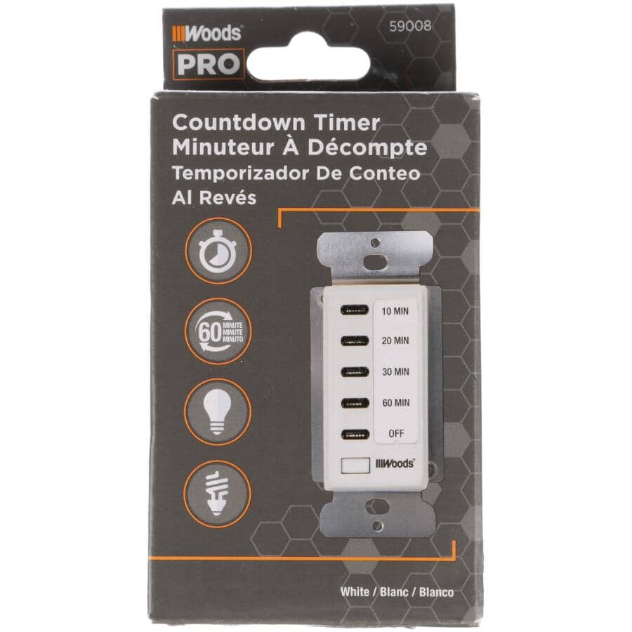 WOODS:60 Minute Indoor In-Wall Countdown Timer