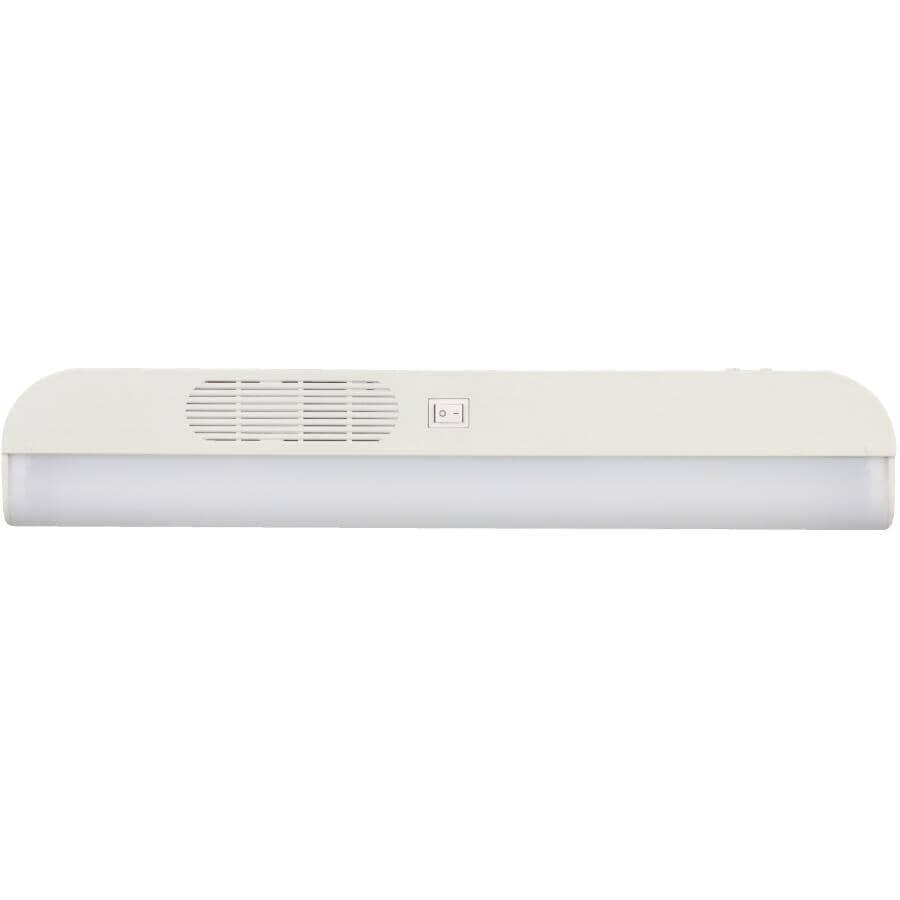 GOOD EARTH LIGHTING:Luminaire fluorescent T8 de 18 po en plastique, blanc