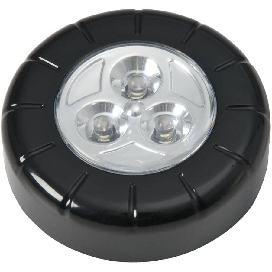 REACTOR:Black LED Push Light with Adhesive Backing