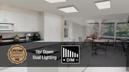 TRENZ LIGHTING:2' x 2' Flushmount Dimmable LED Panel Light