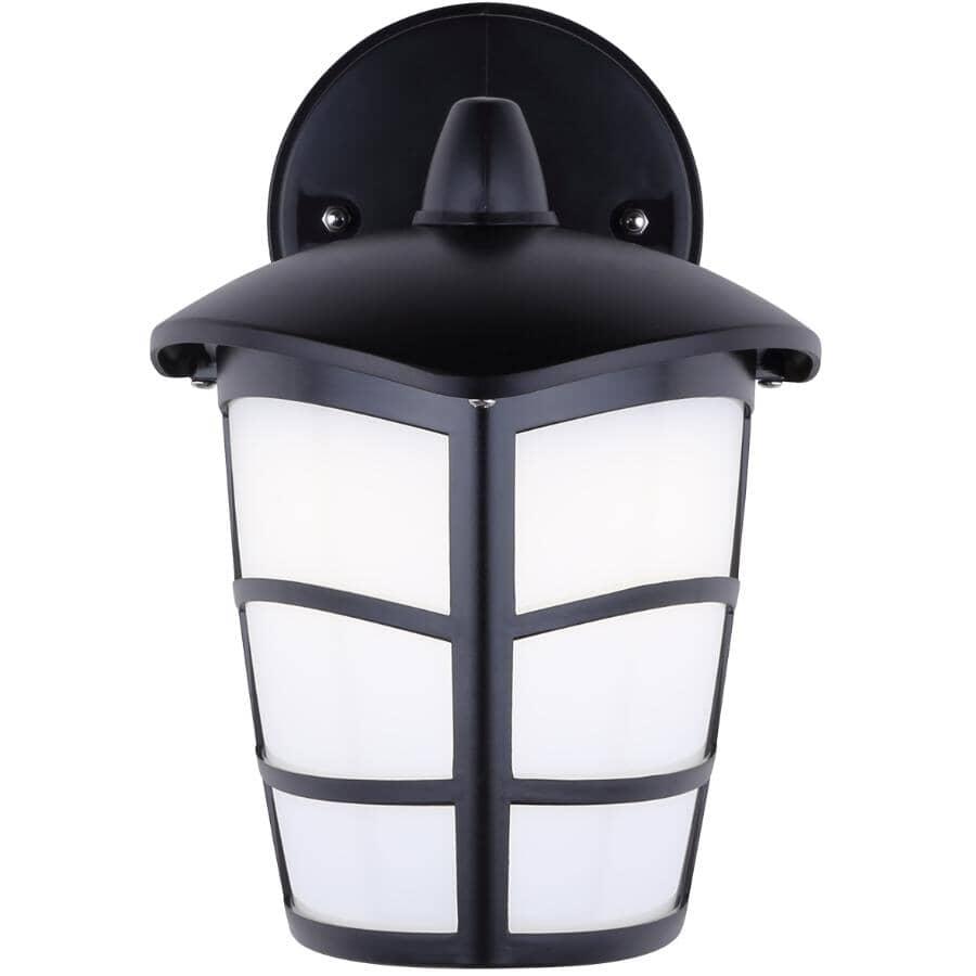 CANARM:7 Watt LED Black Outdoor Downward Coach Light Fixture