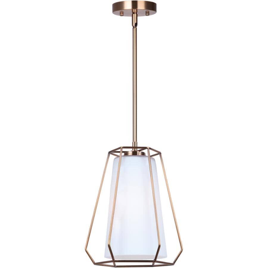 """SCOTT MCGILLIVRAY:Newport Pendant Light Fixture - 1 Light, Gold, 10"""""""