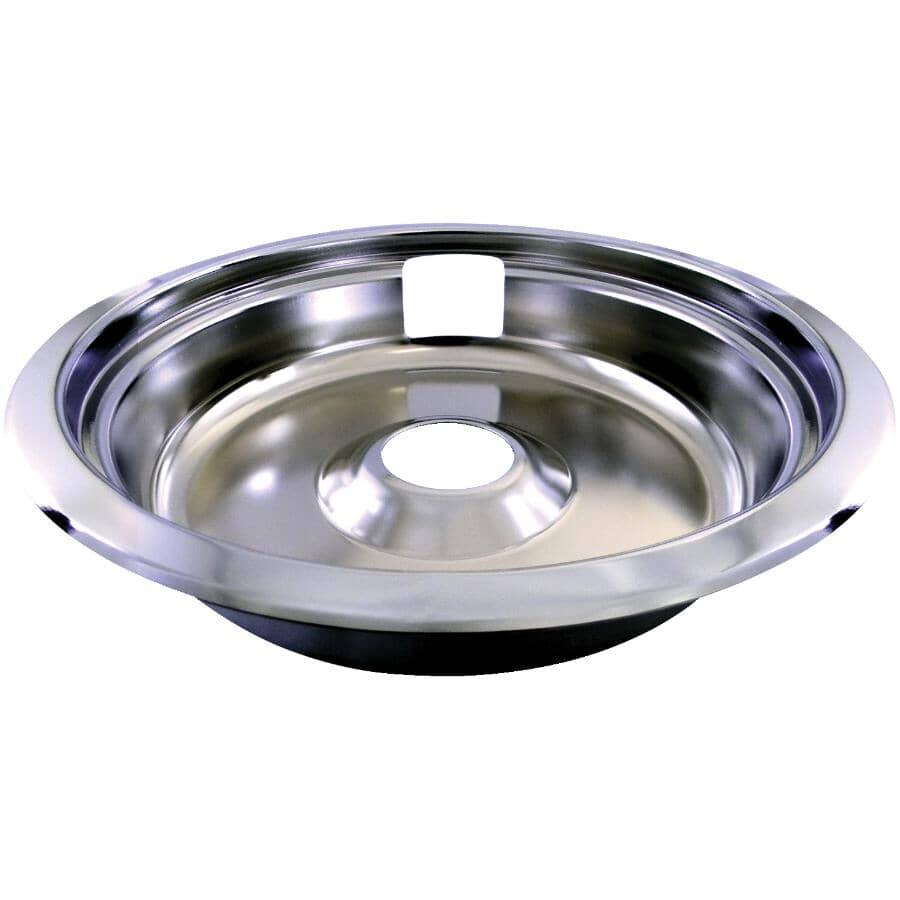 """LASER:Universal Chrome Drip Pan & Ring - 8"""""""