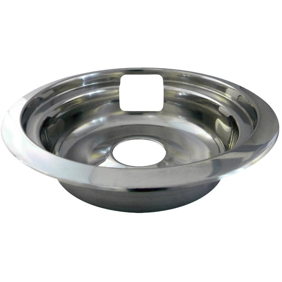 """LASER:Universal Stainless Steel Drip Pan & Ring - 6"""""""