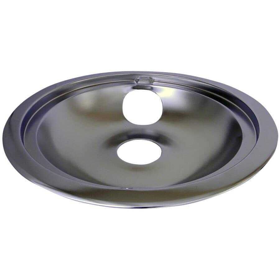 """LASER:Chrome Drip Pan & Ring for GE, Hotpoint, Moffat & McClary - 8"""""""