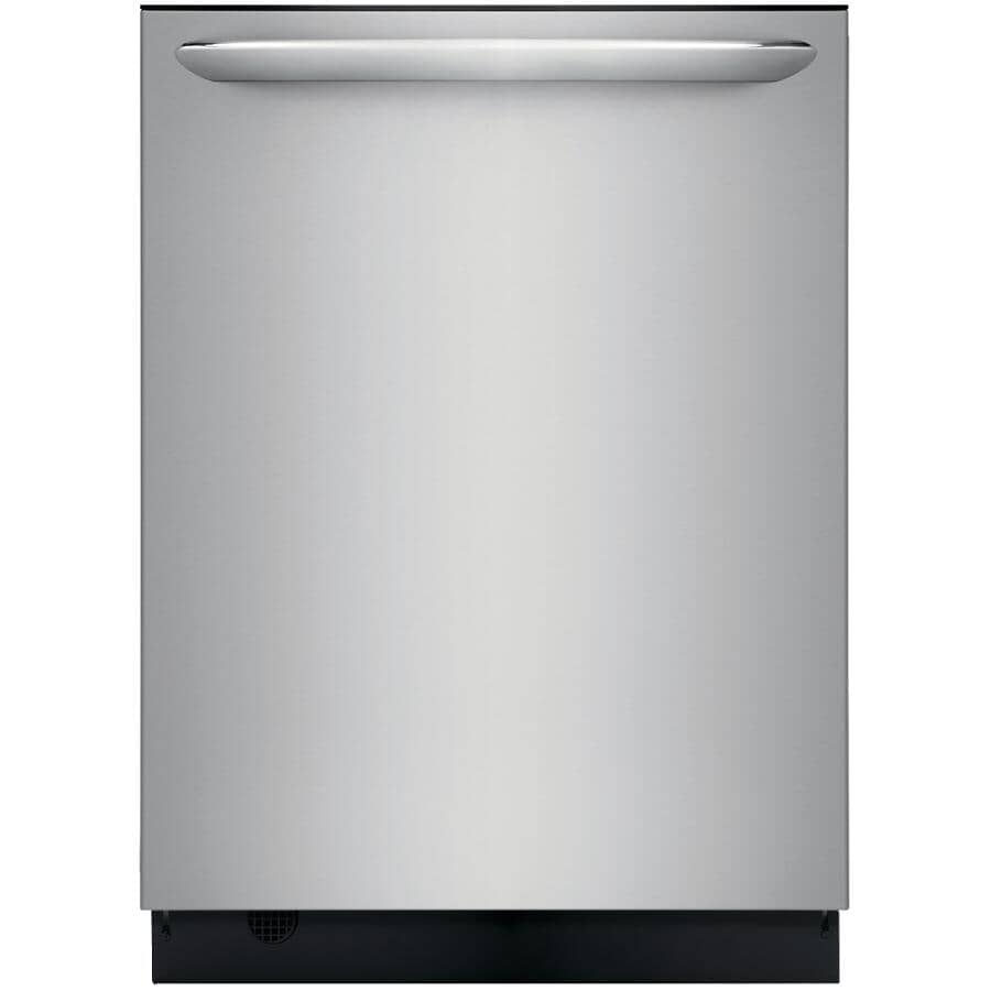 """FRIGIDAIRE GALLERY:Built-In Tall Tub Dishwasher (FGID2479SF) - Top Control + Smudge-Proof Stainless Steel with Stainless Steel Interior, 24"""""""