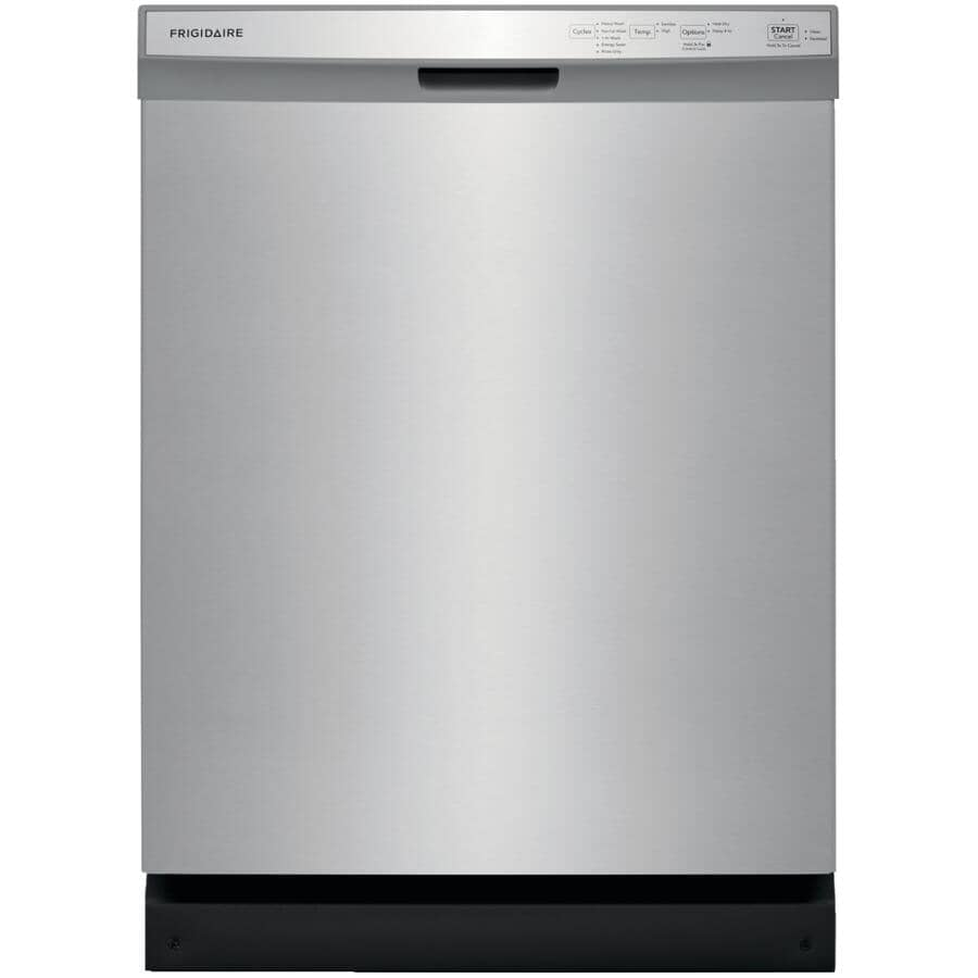 """FRIGIDAIRE:Built-In Tall Tub Dishwasher (FFCD2418US) - Front Control + Stainless Steel with Plastic Interior, 24"""""""