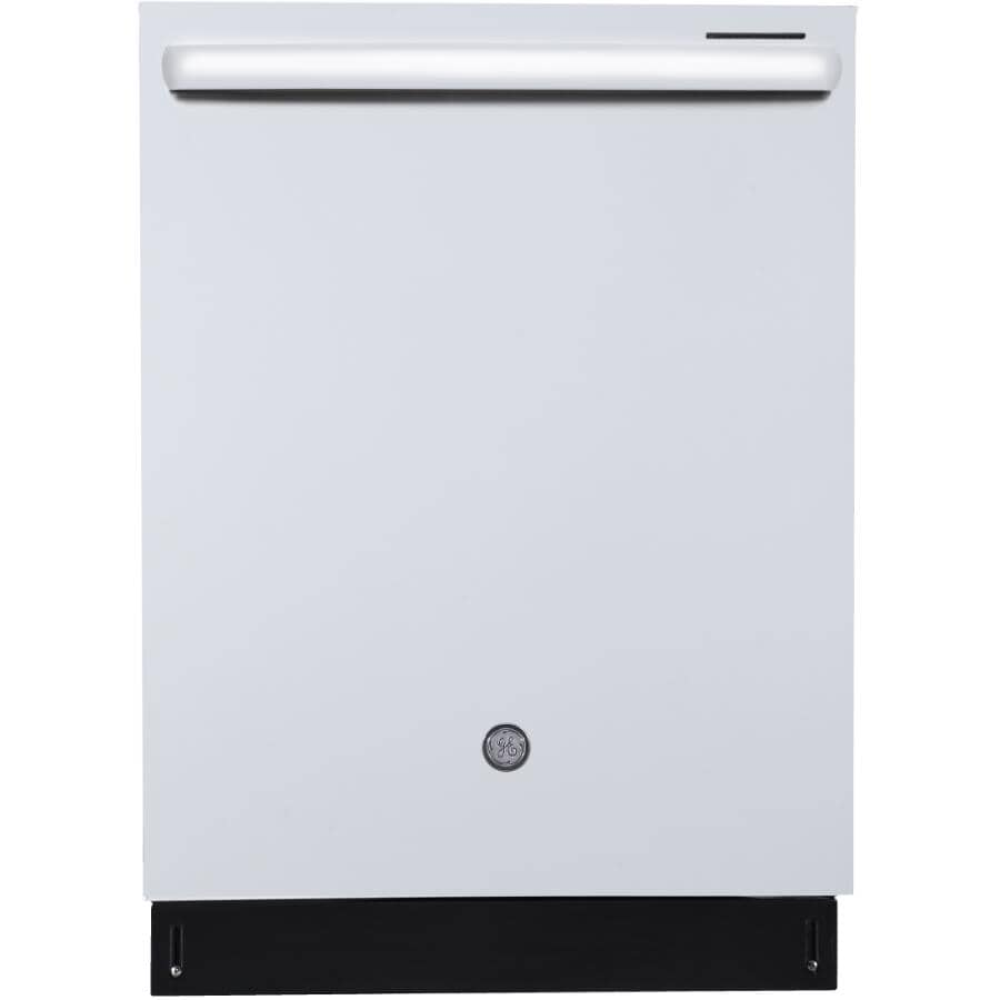 """GE PROFILE:24"""" White Built-In Tall Tub Dishwasher"""