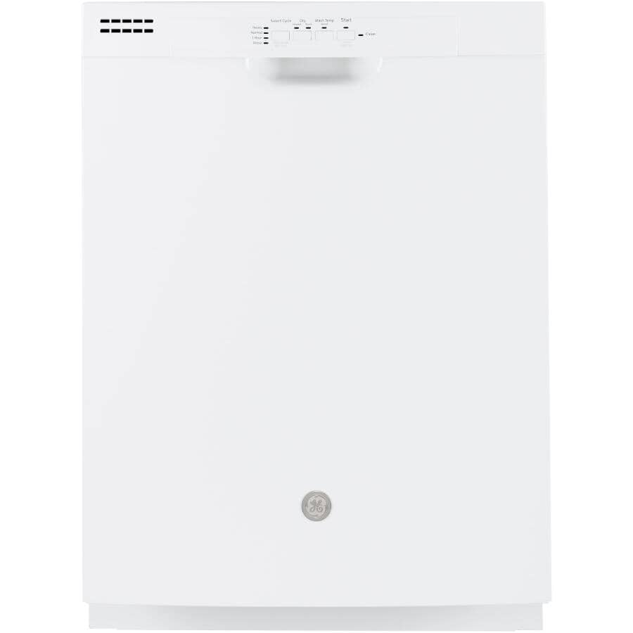 "GE:24"" White Built-In Dishwasher"