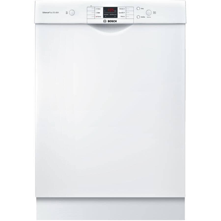 "BOSCH:100 Series 24"" Built-In Dishwasher (SHEM3AY52N) - White"