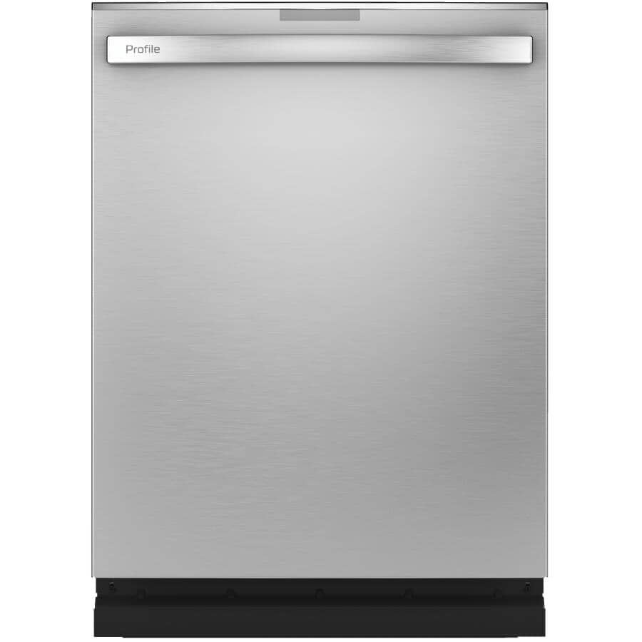 """GE PROFILE:24"""" Built-In Tall Tub Dishwasher with Top Controls, Stainless Steel"""