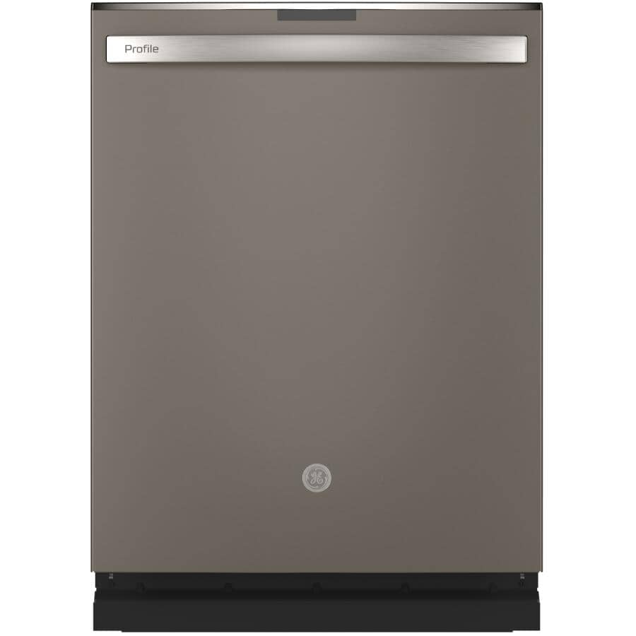 """GE PROFILE:Built-In Tall Tub Dishwasher (PDT715SMNES) - Top Control + Slate with Stainless Steel Interior, 24"""""""