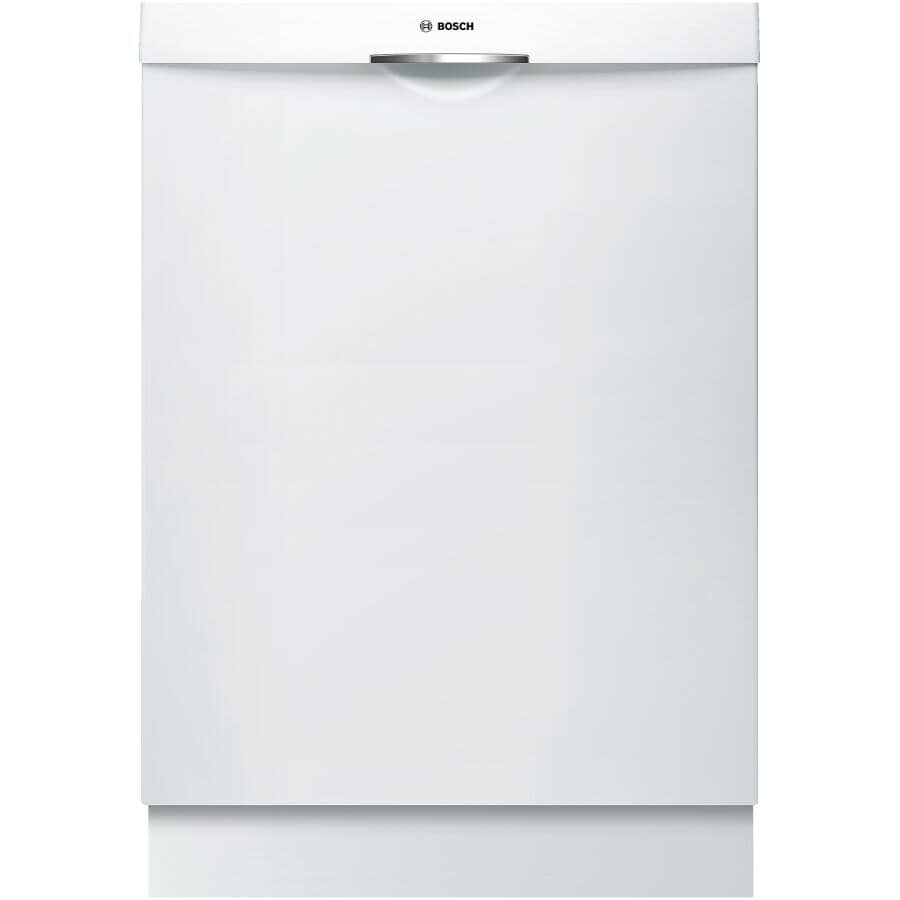 """BOSCH:300 Series 24"""" Built-In Dishwasher (SHSM53B52N) - with Top Controls, White"""