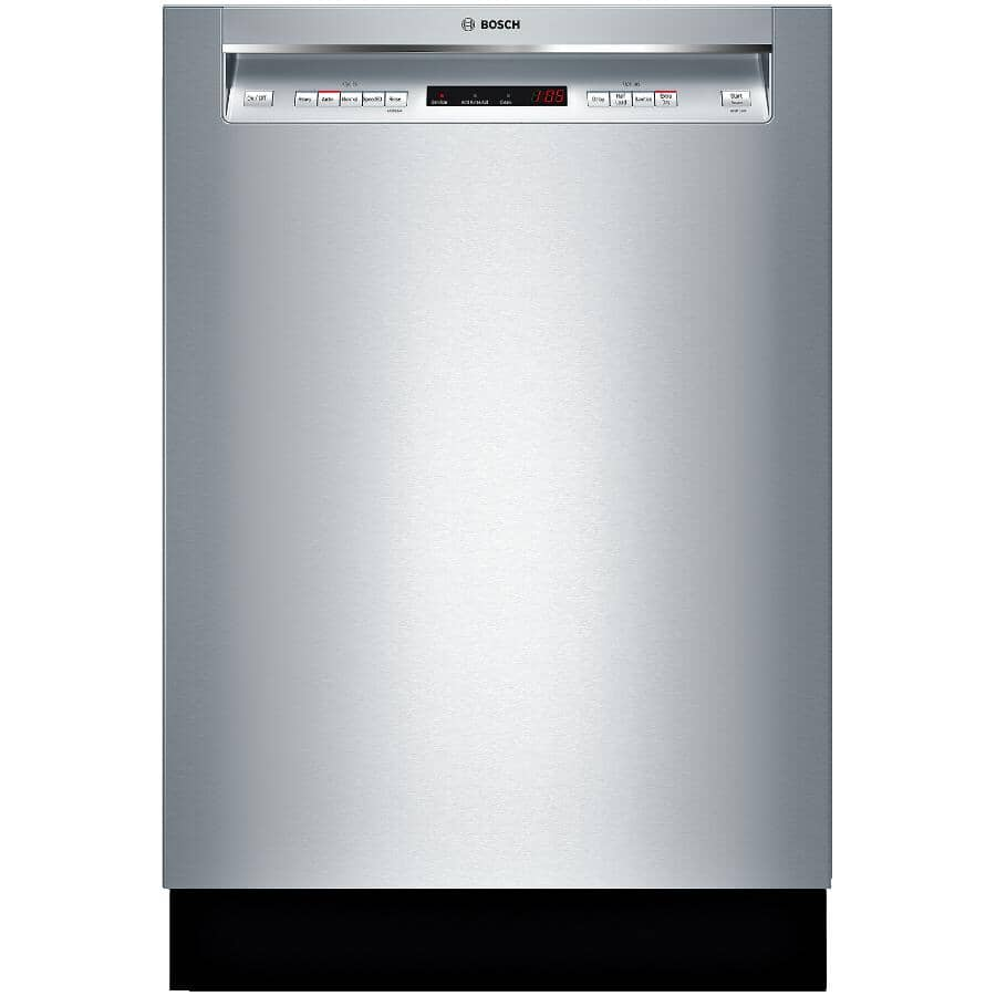 """BOSCH:300 Series 24"""" Built-In Dishwasher (SHEM63W55N) - with Third Rack + Front Controls, Stainless Steel"""