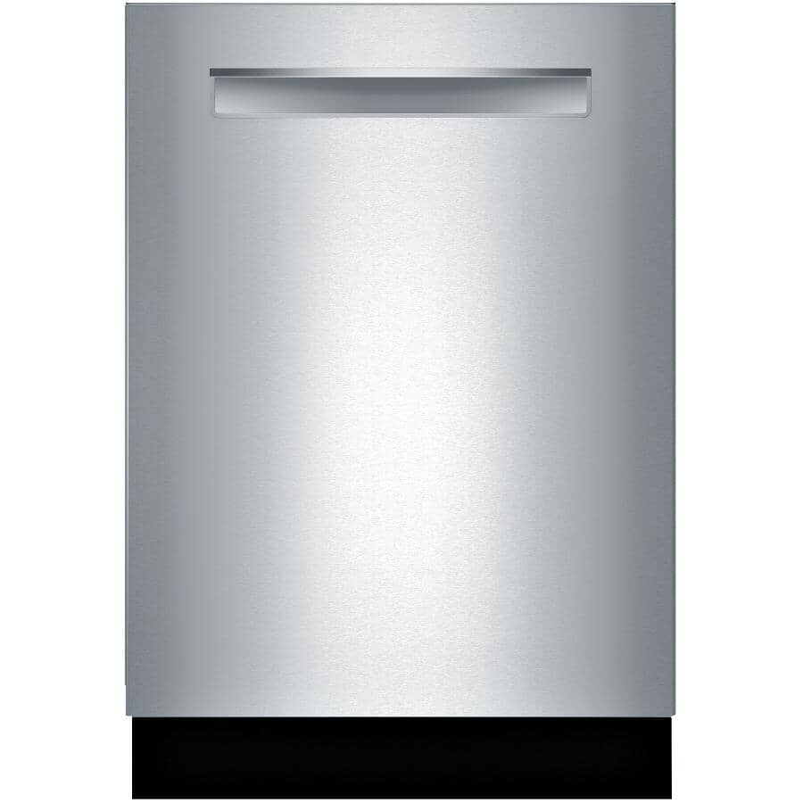 """BOSCH:500 Series 24"""" Built-In Dishwasher (SHPM65W55N) - with Flexible Third Rack + Front Controls, Stainless Steel"""