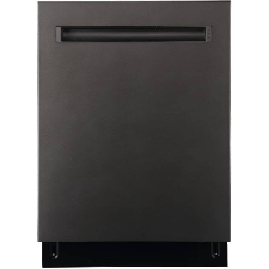 """GE:24"""" Built-In Tall Tub Dishwasher (GBP655SMPES) - Slate & Stainless Steel Interior"""