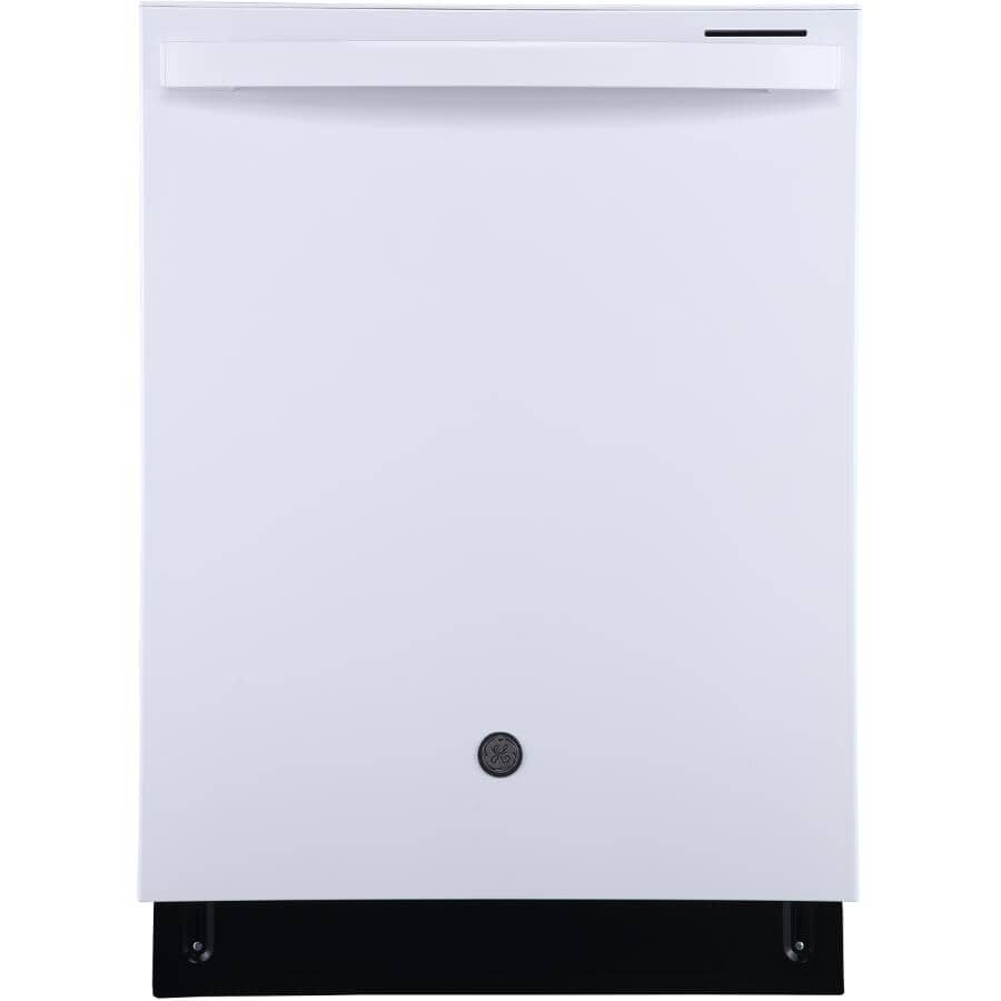 """GE:24"""" Built-In Tall Tub Dishwasher (GBT640SGPWW) - White & Stainless Steel Interior"""