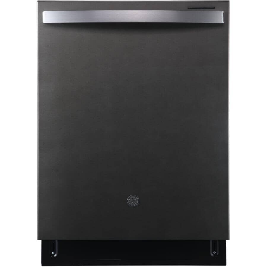 """GE:24"""" Built-In Tall Tub Dishwasher (GBT640SMPES) - Slate & Stainless Steel Interior"""