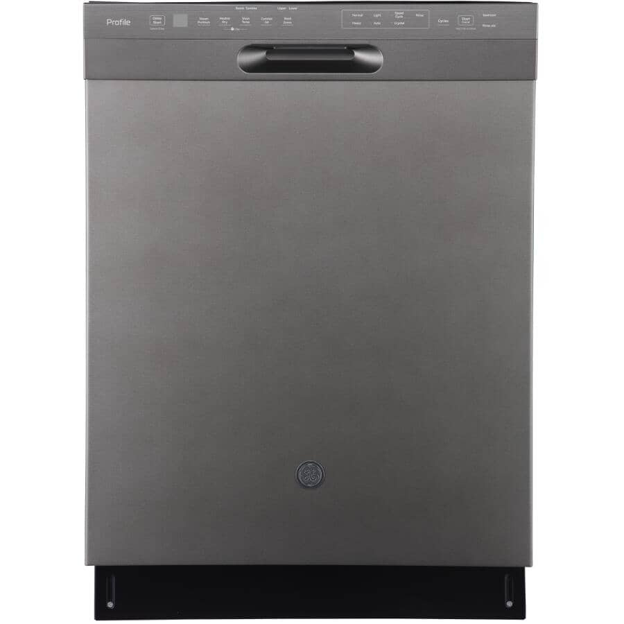 """GE PROFILE:24"""" Built-In Tall Tub Dishwasher (PBF665SMPES) - with Front Controls, Slate & Stainless Steel Interior"""
